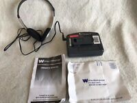 White Westinghouse Cassette Player Model WCS1220 W/ Headphones