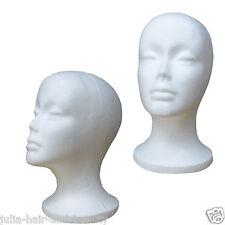 Polystyrene Styrofoam Foam Mannequin Head Stand Women Model Dummy Shop Display