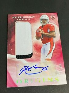 2019 PANINI ORIGINS KYLER MURRAY ORANGE RPA 2 COLOR PATCH AUTO RC #7/99