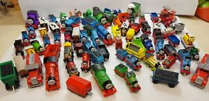 Thomas the Train and Friends Wooden Railway. HUGE LOT of wood die-cast cars