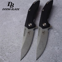 Knives D2 Pocket Folding Knife Tactical Survival Camping Hunting Flipper G10 EDC