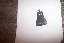 Cobra metal number tags for headcovers for fairway 7+ wood