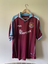 West Ham United Home 1999/01 Football Shirt Dr Martens  XL