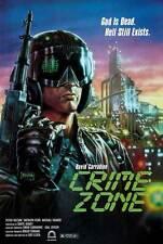 CRIME ZONE Movie POSTER 27x40 B David Carradine Peter Nelson Sherilyn Fenn