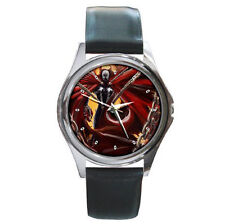 Evil Spawn Power deadly chain leather wrist watch