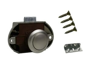 Push-Lock-Schloss Set aus Kunststoff vern. matt 16 mm, Häfele incl Schrauben!