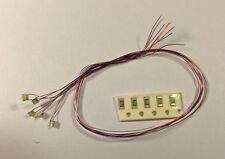 5 SMD Farbwechsel LED 0805 am Draht - Rot-Grün-Blau Überblenden und Blinken