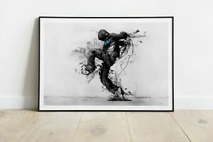 The Dance of the City Print, Fine Art, Vector Shape Art, Painting blend image #4