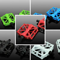 2X Mountain Bike Pedals Flat Platform Aluminum Alloy Sealed Bearing Pedals