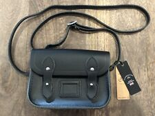 New Cambridge Satchel Company Tiny Satchel Leather Crossbody Black Sold Out