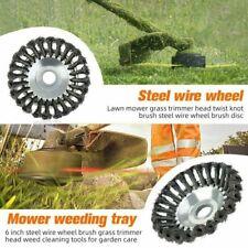 6''/8''Trimmer Brush Steel Solid Wire Wheel Garden Weed Grass Strimmer Head