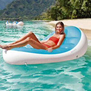 INTEX Petal Lounge Schwimmliege Luftmatratze Badeinsel + Getränkehalter