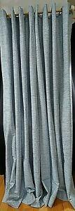 "Threshold Curtains Cat Eye Diamond Ring Top Denim Blue White 2 Panels 55x85"" Ea"