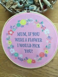 """""""Mum"""" Decorative Hoop Plaque, ideal gift for Mothers Day or anytime"""