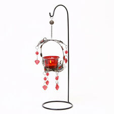 TEA LIGHT HOLDER CANDLE RED MOROCCAN LANTERN PARTY HANGING ALLOY METAL HALLWAY