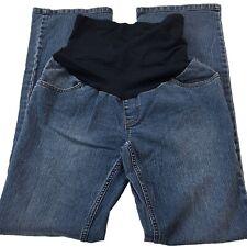 EUC Motherhood Maternity Secret Fit Panel Medium Wash Wide Leg Jeans Size Small