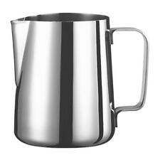Milk Frother Pitcher Stainless Steel Cups Frothing Steaming Kitchen 600ml