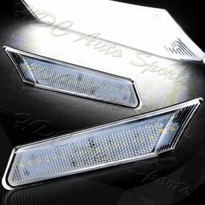 For 2005-2012 Porsche Boxster/Carrera Clear Lens White LED Side Marker Lights
