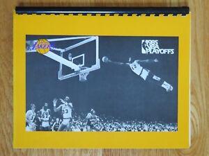 Rare 1985 Play-Offs LOS ANGELES LAKERS Media Guide MAGIC JOHNSON KAREEM WORTHY