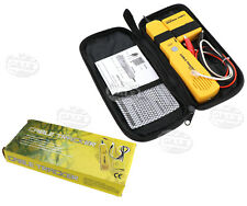 Cable Tester Telephone Wire/LAN Tone Generator Probe Tracker Tracer Kit For RJ11