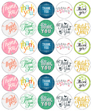 30x Thank You Cupcake Toppers Edible Wafer Paper Fairy Cake Toppers