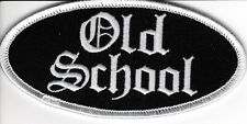 "Patch,  ""OLD SCHOOL""  embroidered emblem, PPL9341"