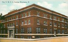 Bloomington Illinois~New YMCA Building~1910 Postcard