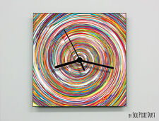Colorful Round Abstract seamless pattern Wall Clock