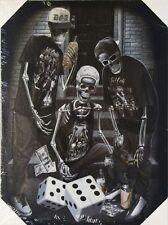 DGA Day of the Dead Dia de los Muertos Canvas Wall Art 12x16 Inch Dice Last Roll