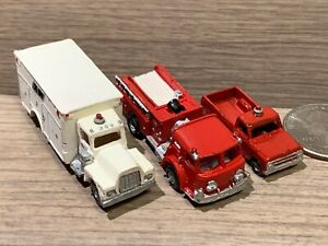 N Scale Resin Kit Built Fire & Rescue Trucks- Painted, see pics