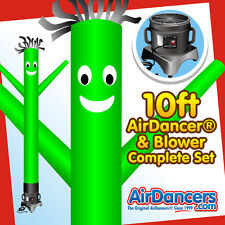 Green AirDancer® & Blower Set 10ft Inflatable Tube Man Air Dancer