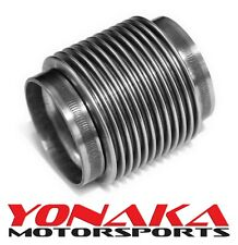 "Yonaka 3"" ID Slip Fit T304 Polished Stainless Steel Exhaust Bellow Flex Joint"
