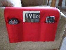 Chair Cozee TV Remote Control Holder Armrest Organizer Caddy-Red