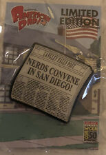 "American Dad Sdcc Exclusive Pin Newspaper ""Nerds Convene In San Diego"""