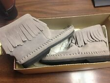 Taos 'Indian Maid' Fringed Ankle Boot Size 5 Grey-New- never worn