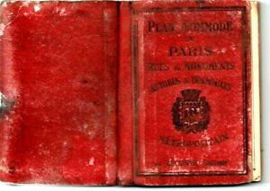 PLAN COMMODE DE PARIS rues et monuments autobus tramways metropolitain 1937-1939