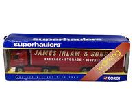 CORGI SUPERHAULERS 1:64 SCANIA CURTAINSIDE JAMES IRLAM & SONS 59509 BOXED 1/64