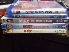(5) Dexter Season Blu-Ray/DVD Lot: Dexter Seasons 1-5   w/Slipcovers   Horror