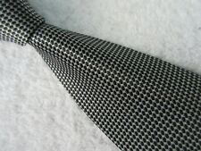 TAYLOR & WRIGHT PADDED BLACK SLIVER 3.75 INCH POLYESTER NECK TIE