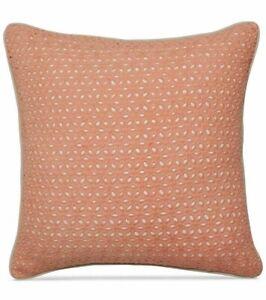 "Martha Stewart Collection Embroidered Eyelet 18"" Decorative Pillow Salmon"