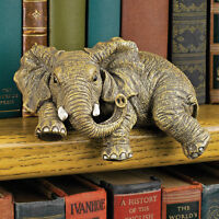 Sculptur Ernie Elephant Shelf Sitter Figurine, Pachyderm Statue, Hand Paint Cute