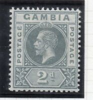Gambia 1912-22 Early Issue Fine Mint hinged Shade of 2d. 308945