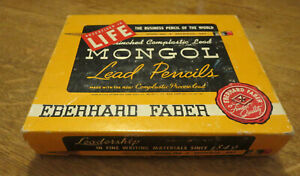 Vintage Eberhard Faber MONGOL 482 - 2 3/8 Woodclinched Lead Pencils Box Only