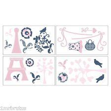 Cocalo MADISON Wall Sticker Girl Room Paris Pink Blue Flowers Birds Eiffel Tower  sc 1 st  eBay & CoCaLo Nursery Wall Decals u0026 Vinyl Art | eBay