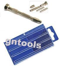 20PC Micro HSS Twist Drills & GN1162 Swivel Head Pin Vice Engineers Model Maker