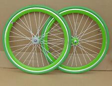 NOLOGO GREEN Single Speed wheelsets Fixed Fixie 700c flip-flop hub Wheelsets b