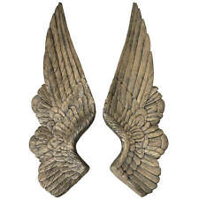 Large Wall Mounted Angel Wings 66cm Antique Gold Wall Hanging Home Deco Ornament
