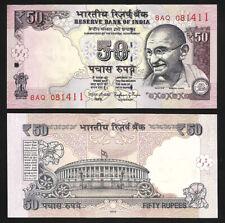 INDIA 50 RUPEES 2016 , UNC , P-104 , MAHATMA GANDHI , Letter R