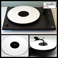 Gloss White Acrylic Turntable Platter Mat. Fits REGA, PRO-JECT!
