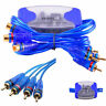 4-Channel RCA Audio Noise Filter Suppressor Ground Loop Isolator Car Stereo LA